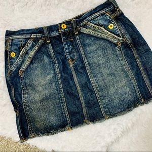 {POLO JEANS} Billie Carpenter Denim Mini Skirt